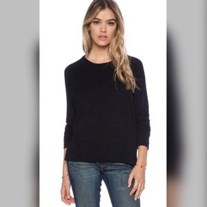rag & bone Designer Top  Long Sleeve Black Shirt